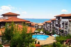 Hotels on the beach in Sveti Vlas, Bulgaria Stock Photography