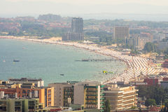 Hotels and beaches resort of Sunny Beach in Bulgaria Stock Photos