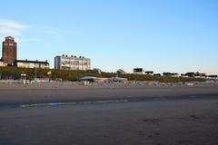 Hotels on the beachfront in Zandvoort Aan Zee, Holland, the Netherlands stock image