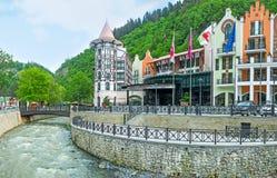 The hotels of Borjomi Stock Photo