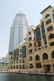 Hotels buildings in Dubai downtown, UAE Royalty Free Stock Photos