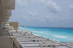 Hotels in Cancun Stock Photo