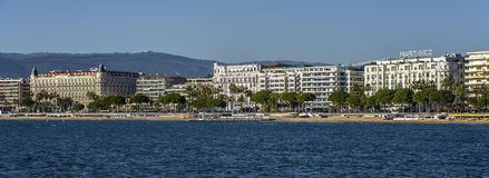 Hotels in Cannes Royalty Free Stock Photography