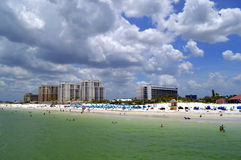 Hotels on Clearwater Beach in Florida Royalty Free Stock Photo