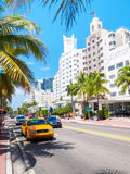 Hotels at Collins Avenue in Miami Beach Royalty Free Stock Photography