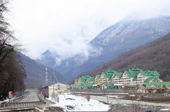 Hotels complex in Esto-Sadok, Krasnodar krai Royalty Free Stock Photography