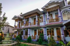 Hotels at countryside in Taunggyi, Myanmar royalty free stock photos