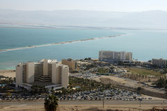 Hotels on Dead Sea. stock photography