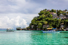 Hotels on Diniwid Point, Boracay Island, Philippines Royalty Free Stock Images