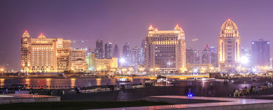 Hotels in Doha Stock Images