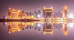 Hotels in Doha Royalty Free Stock Photos