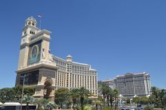 Hotels en Winkels op de Strook 26 Juni, 2017 van Las Vegas Reis Holydays Stock Afbeelding