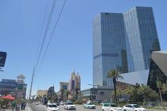 Hotels en Winkels op de Strook 26 Juni, 2017 van Las Vegas Reis Holydays stock foto