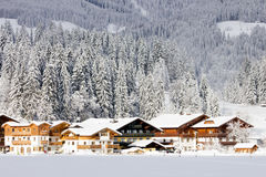 Hotels Flachau Royalty Free Stock Images