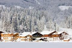 Hotels Flachau royalty-vrije stock afbeeldingen