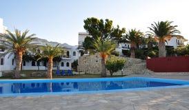 Hotels in Greece, Crete. Hotel in the summer, Greece, Crete Stock Photo
