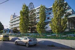 Hotels in ixia, rhodes, greece Royalty Free Stock Photo