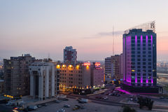 Hotels in the Kuwait City Royalty Free Stock Photography