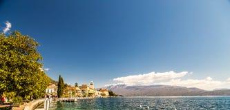 Hotels on the lake Garda Stock Images