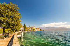 Hotels on the lake Garda Royalty Free Stock Images