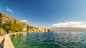 Hotels on the lake Garda Royalty Free Stock Photos