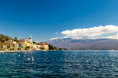 Hotels on the lake Garda Stock Photos