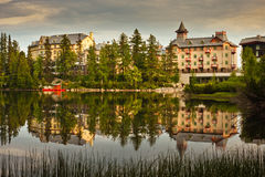 Hotels by lake Slovakia Royalty Free Stock Photos
