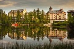 Hotels by lake Slovakia Royalty Free Stock Photos