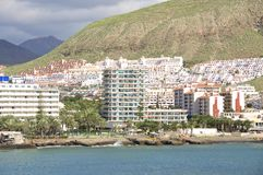 Hotels in Los Cristianos Royalty Free Stock Photos