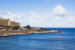 Hotels on Maltese coastline. Showing wealth and prosperity, popular holiday destinations Royalty Free Stock Photography