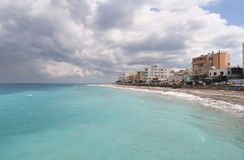 Hotels in the Mediterranean Stock Photo