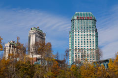 Hotels in Niagara Falls Stockbild
