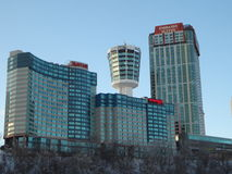 Hotels in Niagra Falls Royalty Free Stock Photography