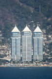Hotels op Acapulco-waterkant Stock Foto