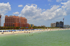 Hotels op Clearwater-Strand in Florida royalty-vrije stock afbeelding