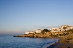 Hotels op het Middellandse-Zeegebied Royalty-vrije Stock Afbeeldingen