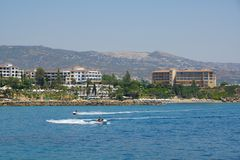 Hotels in Paphos Stock Photography