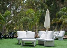 Hotels patio . Royalty Free Stock Photo