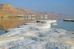 Morning on the Dead Sea in Ein Bokek royalty free stock photo