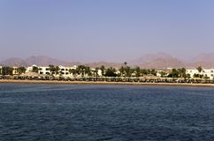 Hotels on the Red Sea coast Stock Image