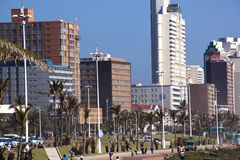 Hotels and Residential Buildings along Durban's Golden Mile royalty free stock images