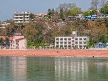 Hotels in Rishikesh Stock Images