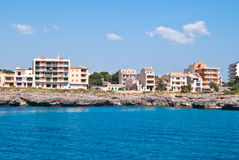 Hotels on the rocky shore, Majorca island, Spain Stock Photography