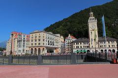 Hotels in Rosa Khutor, Sochi, Russia Stock Images