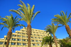 Hotels in the Sa Coma, Majorca, Spain Royalty Free Stock Images