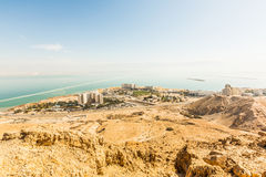 Hotels on the shores. Of the Dead Sea Royalty Free Stock Images