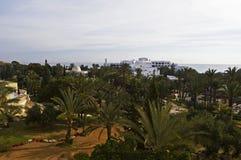 Hotels in Tunesien stockbild
