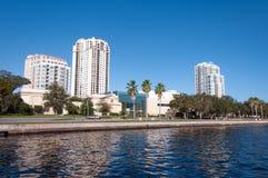 Hotels und Boote Florida Stockbild