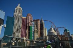 Hotels und Shops auf dem Las Vegas-Streifen am 26. Juni 2017 Reise Holydays Stockfotos