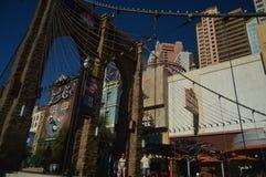 Hotels und Shops auf dem Las Vegas-Streifen am 26. Juni 2017 Reise Holydays Lizenzfreie Stockbilder